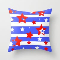 Independence Throw Pillow by Rosie Brown