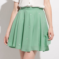 Floating Heart Mint Skirt