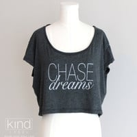 Chase Dreams Soft Loose Crop Top by KindLabel on Etsy
