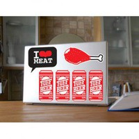 ADZif Ado Red Beer Wall Decal - A6704 - All Wall Art - Wall Art & Coverings - Decor