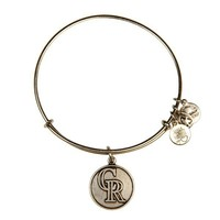 Alex and Ani Colorado Rockies™ Cap Logo Charm Bangle - Russian Silver