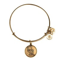Alex and Ani Colorado Rockies™ Cap Logo Charm Bangle - Russian Gold
