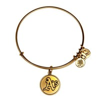 Alex and Ani Oakland Athletics™ Cap Logo Charm Bangle - Russian Gold