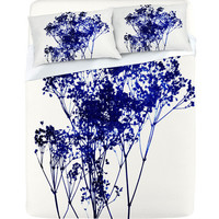 DENY Designs Home Accessories | Garima Dhawan Babys Breath Indigo Sheet Set