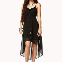 Buttoned High-Low Dress