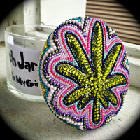 Handmade 3D Pot Leaf Stash Jar