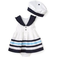 Hartstrings Infant Girls' Woven Dress, Panty & Hat Set