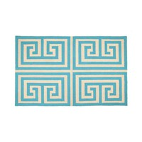Trina Turk Greek Key Hook Rug - Blue