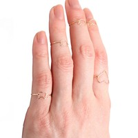 Catbird :: First Knuckle Rings :: Tiny Kitten Ring