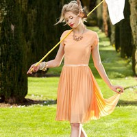 Peach Chiffon Vintage Dress | Belle de Jour