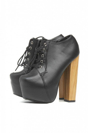 Lace Up Platform Boots - AX Paris