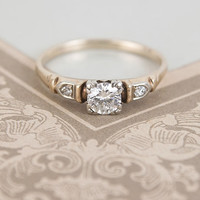 Definitive 1940s .45ct Engagement Ring | Erica Weiner