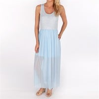 Design History Women's Contemporary Maxi Tank Dress with Pleated Skirt at Von Maur