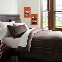 Stripe Stitch Duvet Cover + Sham, Brown Multi