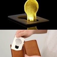 5 x LED Pocket Credit Card Wallet Light Bulb