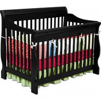 Delta Children's Products Canton 4 in 1 Convertible Crib in Distressed Black - 7888_001 - Cribs - Nursery Furniture - Baby & Kids' Furniture - Furniture