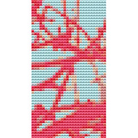 Bookmark Cross stitch kit by Rosie Brown 'Lace Limbs' modern abstract cross stitch kit