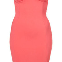 Heart Back Cup Bandeau Dress by Dress Up Topshop** - Dresses - Clothing - Topshop