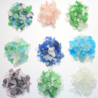 Beach Decor Sea Glass - 2 lb. Beach Glass,  Lots of Colors -  2 POUNDS, Recycled