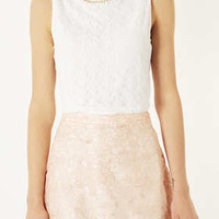 Bead Necklace Lace Crop Top - New In This Week  - New In