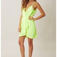 Line and Dot Sexy Tuck Detail Dress
