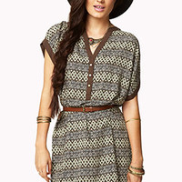 Contrast Shift Dress w/ Belt | FOREVER 21 - 2041147979