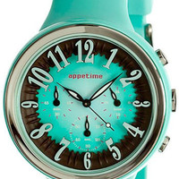 Mint Chocolate Appetime Sweets Watch with Chronograph - Pure Modern Design Contemporary Timepieces
