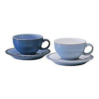 Blue jetty tea saucer white