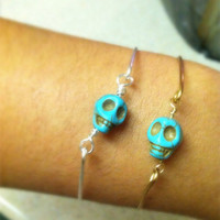 Turquoise Skull bangle