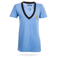 Star Trek Logo V Neck Ladies' Tee