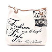 Fashion Can Be Bought Canvas Tote Bag - Unique Vintage - Prom dresses, retro dresses, retro swimsuits.