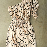 Chic Geometric Angles Dress