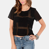 Sheer Review Black Top