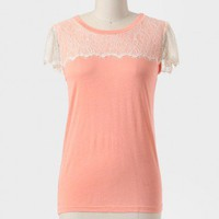 Marianna Lace Detail Top