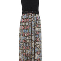 Petites Printed 70s Maxi Dress - View All  - Dress Shop
