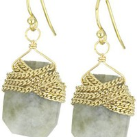 a.v. max Chain Wrapped Nugget Earrings