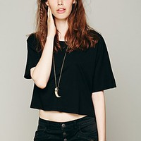 Free People We The Free Boxy Crop Tee