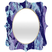 DENY Designs Home Accessories | Rosie Brown Amethyst Ferns Quatrefoil Mirror