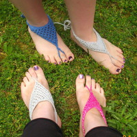 Barefoot Sandals for Women - PDF Knitting Pattern