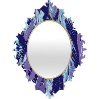 DENY Designs Home Accessories | Rosie Brown Amethyst Ferns Baroque Mirror