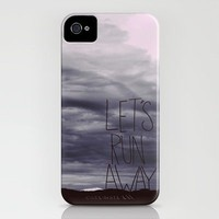 Let&#x27;s Run Away VI iPhone Case by Leah Flores | Society6