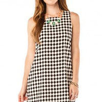 Checkered Tank Shift Dress - ShopSosie.com