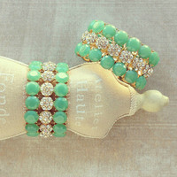 Pree Brulee - Mint Starry Dust Bracelet