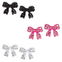 Payless, Women's Bow Trio Earring Set, Women's