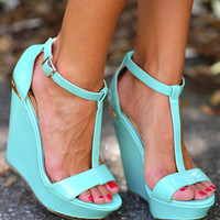 Get Your Shine On Wedges: Aqua | Hope's
