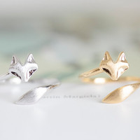 fox  rings/unique rings/adjustable rings/animal rings/stretch rings/men ring/cool rings/couple rings/mens rings/cute rings