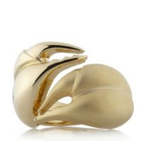 Yellow gold swarovski crystal scorpion ring