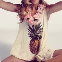 Wildfox Couture Pineapple Dreamer Tank in Banana Split