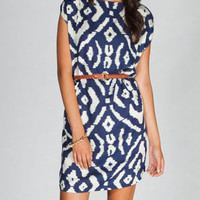ANGIE Ethnic Print Belted A Line Dress 223350210 | Short Dresses | Tillys.com