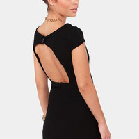Fire with Fire Backless Black Dress